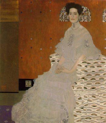 Portrait of Fritza Riedler   Gustav Klimt   oil painting