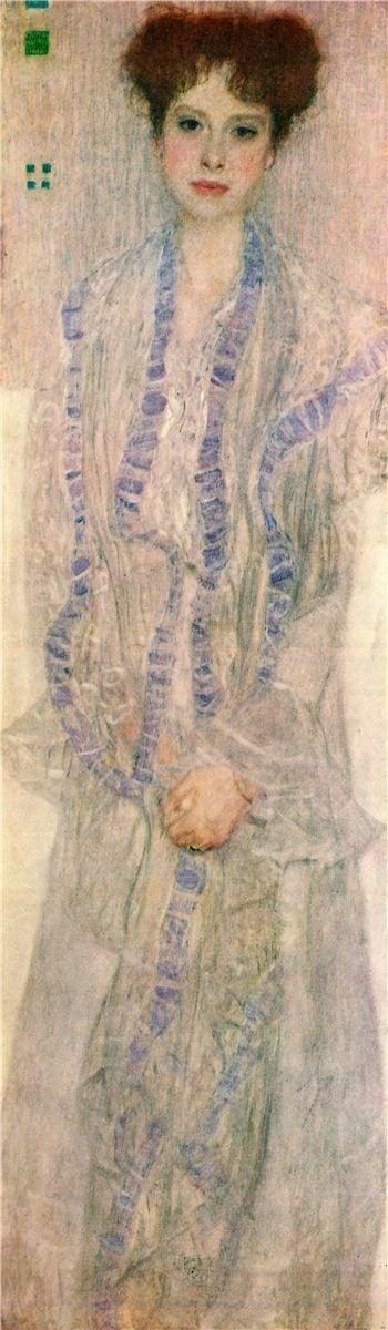 Portrait of Gertha Felssovanyi   Gustav Klimt   oil painting