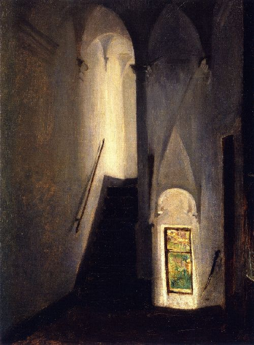 Staircase | John Singer Sargent | oil painting