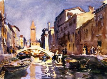 Venetian Canal | John Singer Sargent | oil painting