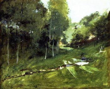 Wooded Landscape | John Singer Sargent | oil painting