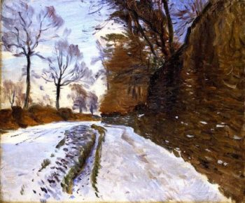 Country Road in Winter | John Singer Sargent | oil painting