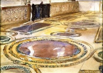Inlaid Marble Pavement | John Singer Sargent | oil painting
