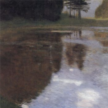 Quiet pond in the park of Appeal | Gustav Klimt | oil painting