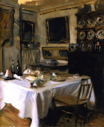 My Dining Room | John Singer Sargent | oil painting