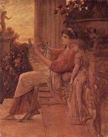 Sappho | Gustav Klimt | oil painting