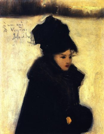 Woman in Furs | John Singer Sargent | oil painting