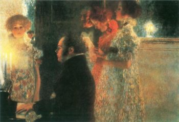 Schubert at the Piano II | Gustav Klimt | oil painting