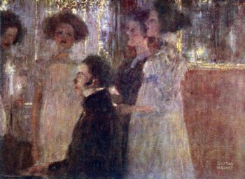 Schubert at the piano I | Gustav Klimt | oil painting