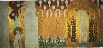 The Beethoven Frieze The Longing for Happiness Finds Repose in Poetry | Gustav Klimt | oil painting