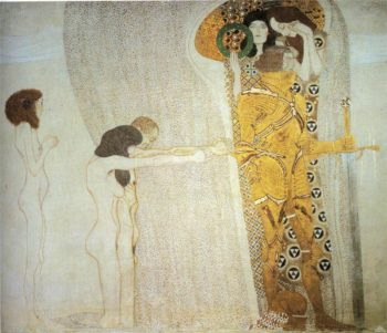The Beethoven Frieze The Longing for Happiness | Gustav Klimt | oil painting