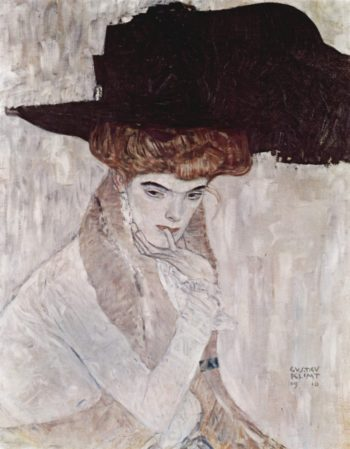 The Black Feather Hat | Gustav Klimt | oil painting