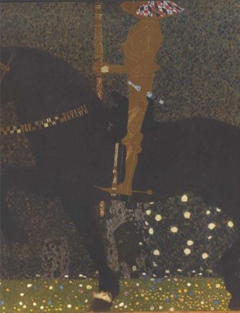 The Golden Knight | Gustav Klimt | oil painting