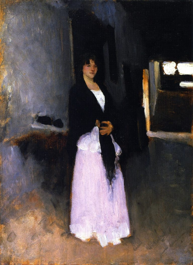 A Venetian Woman   John Singer Sargent   oil painting