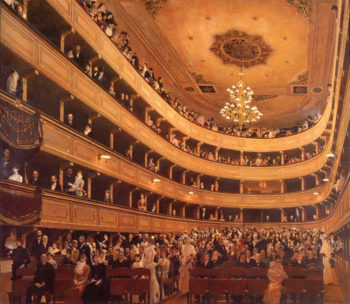 The Old Burgtheater | Gustav Klimt | oil painting