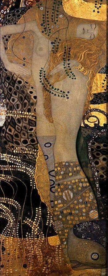 Wasserschlangen I | Gustav Klimt | oil painting