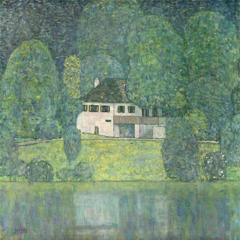 Water castle | Gustav Klimt | oil painting