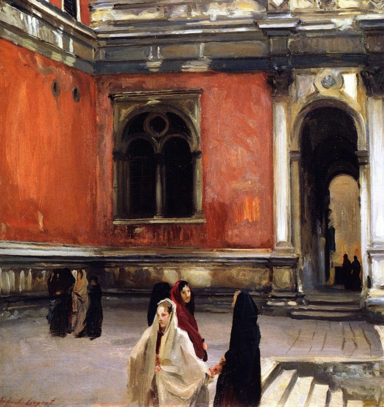 Campo behind the Scuola di San Rocco | John Singer Sargent | oil painting