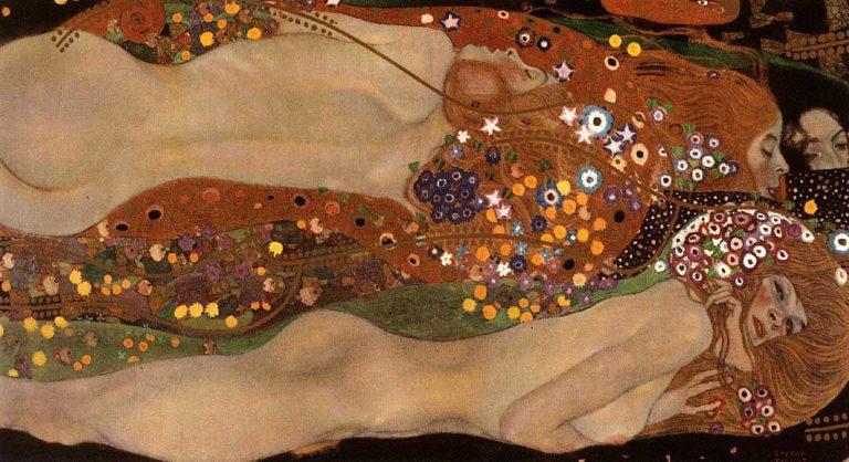 Water Snakes II | Gustav Klimt | oil painting