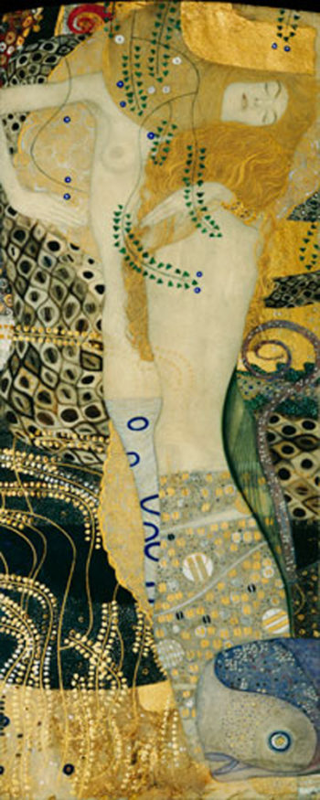 Water Snakes | Gustav Klimt | oil painting
