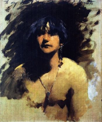 Head of a Young Woman | John Singer Sargent | oil painting