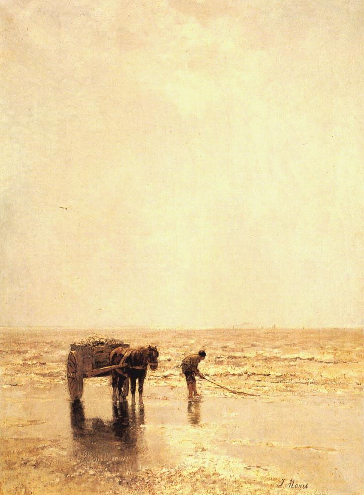 Collecting Shellfish | Jacob Maris | oil painting