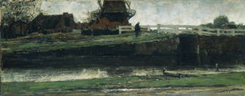 De afgesneden molen | Jacob Maris | oil painting