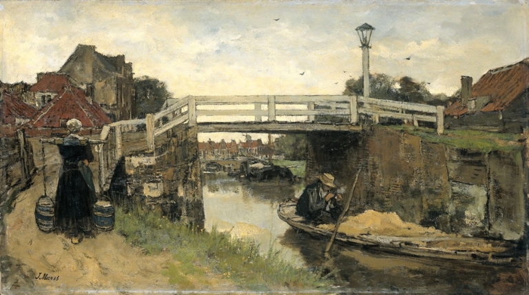 De brug | Jacob Maris | oil painting