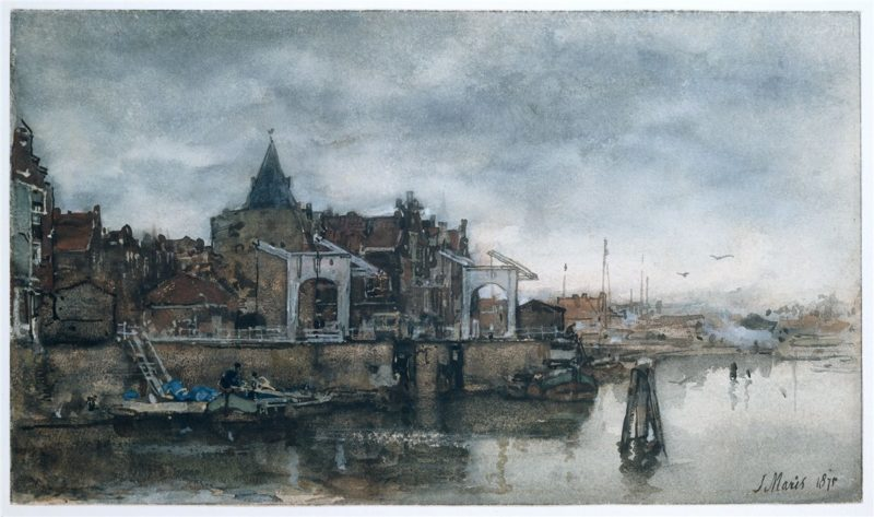 De Buitenkant met de Schreierstoren te Amsterdam | Jacob Maris | oil painting