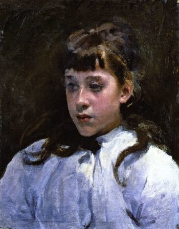 Young Girl Wearing a White Muslin Blouse | John Singer Sargent | oil painting