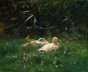 Ducks | Jacob Maris | oil painting