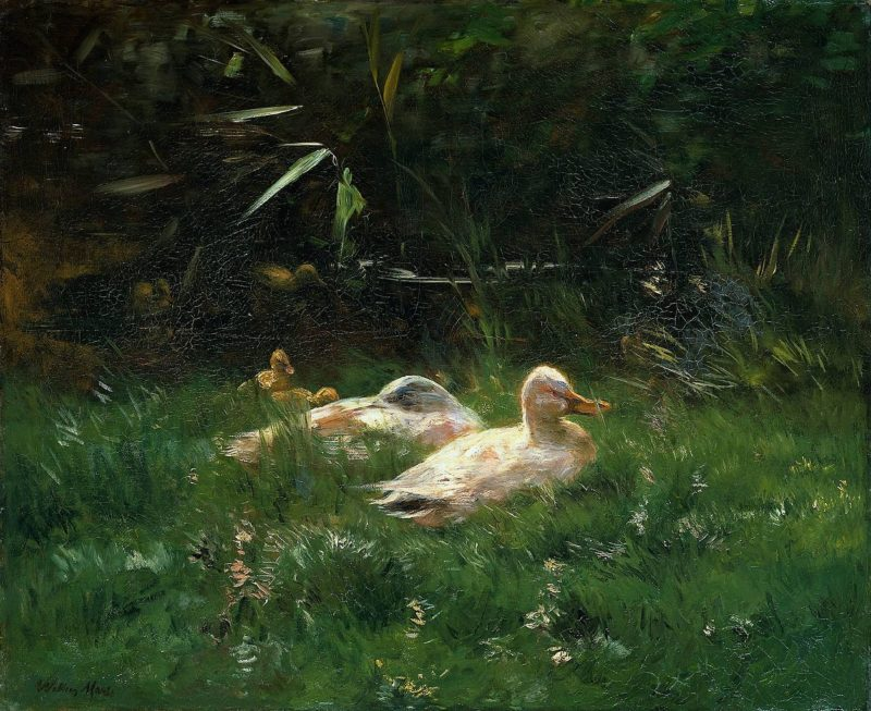 Ducks | Jacob Maris | oil painting