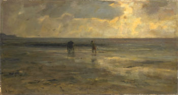 Evening at the Beach | Jacob Maris | oil painting