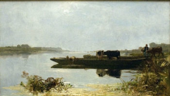 Ferry boat | Jacob Maris | oil painting