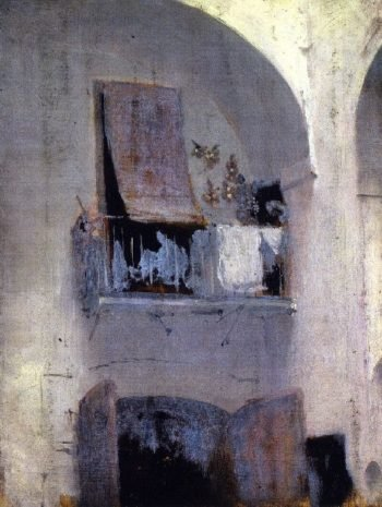 The Balcony | John Singer Sargent | oil painting