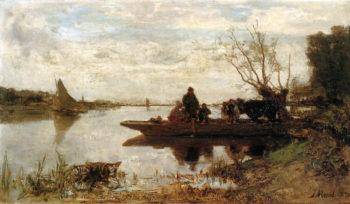 Ferry | Jacob Maris | oil painting