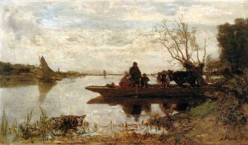 Ferry | Jacob Maris | oil painting