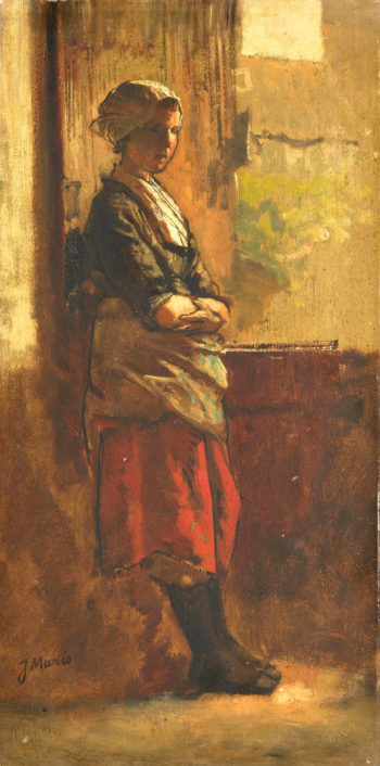 Girl at the Window | Jacob Maris | oil painting