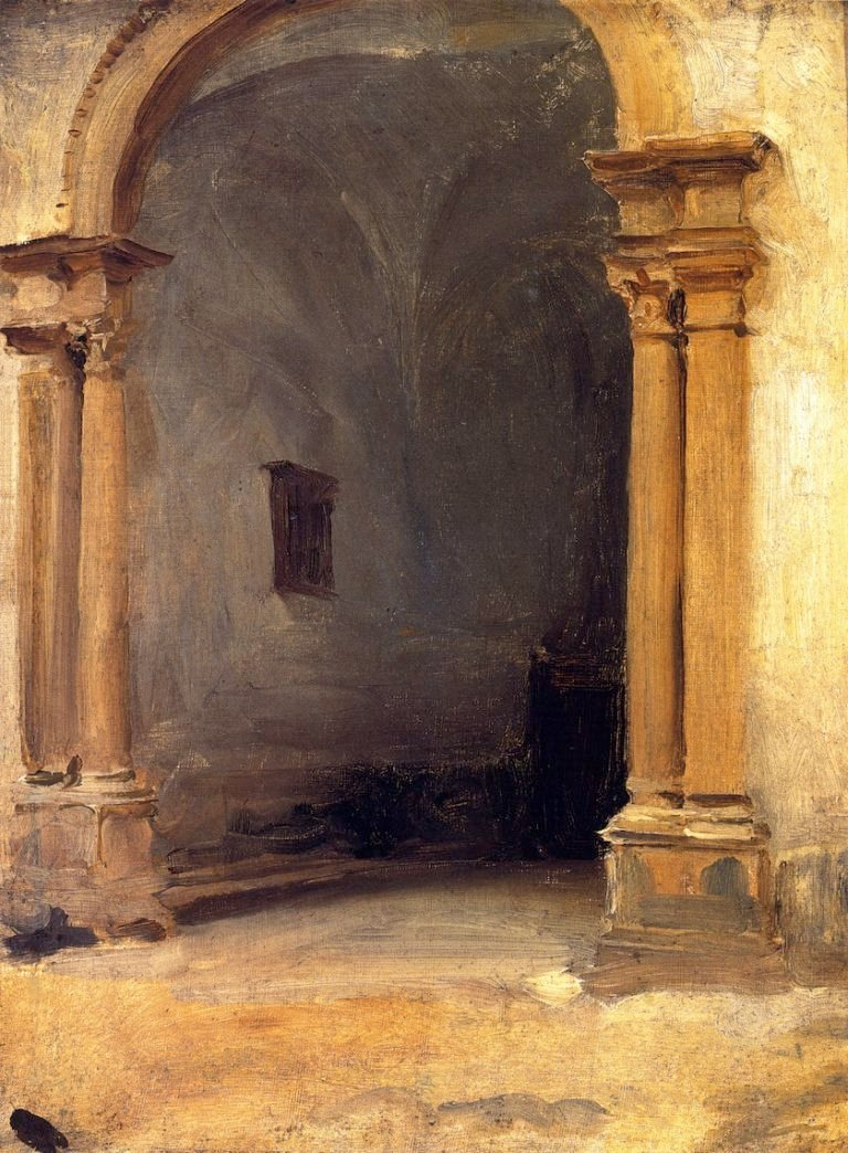 An Archway   John Singer Sargent   oil painting