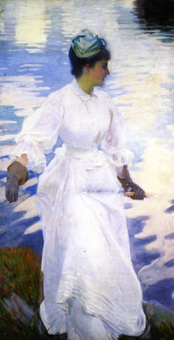 Lady Fishing Mrs Ormand | John Singer Sargent | oil painting