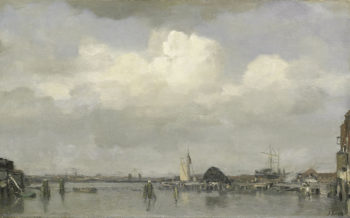 Harbour View | Jacob Maris | oil painting