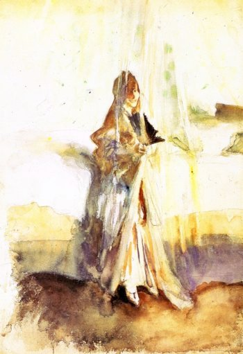 Venetian Woman by a Bed | John Singer Sargent | oil painting