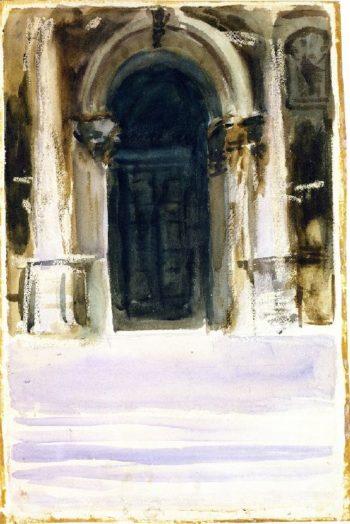 Green Door Santa Maria della Salute | John Singer Sargent | oil painting
