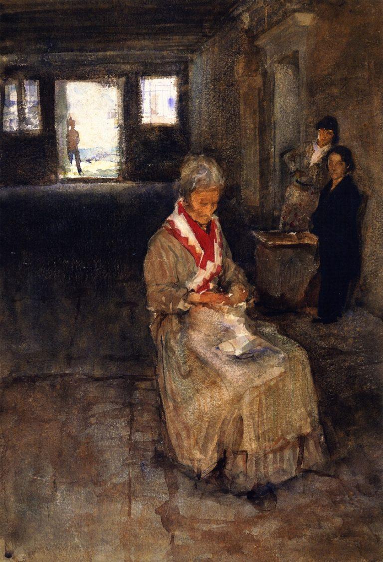 Venetian Interior | John Singer Sargent | oil painting