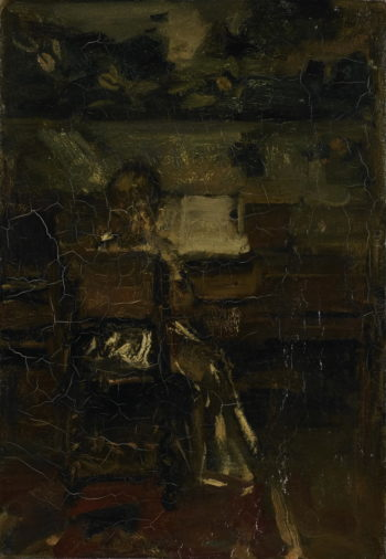 Meisje aan de piano | Jacob Maris | oil painting