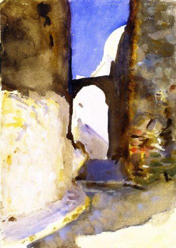 Street Tangier | John Singer Sargent | oil painting