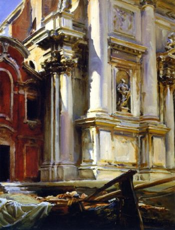 Corner of the Church of San Stae Venice | John Singer Sargent | oil painting