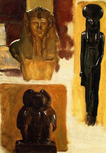 Studies of Egyptian Sculpture | John Singer Sargent | oil painting