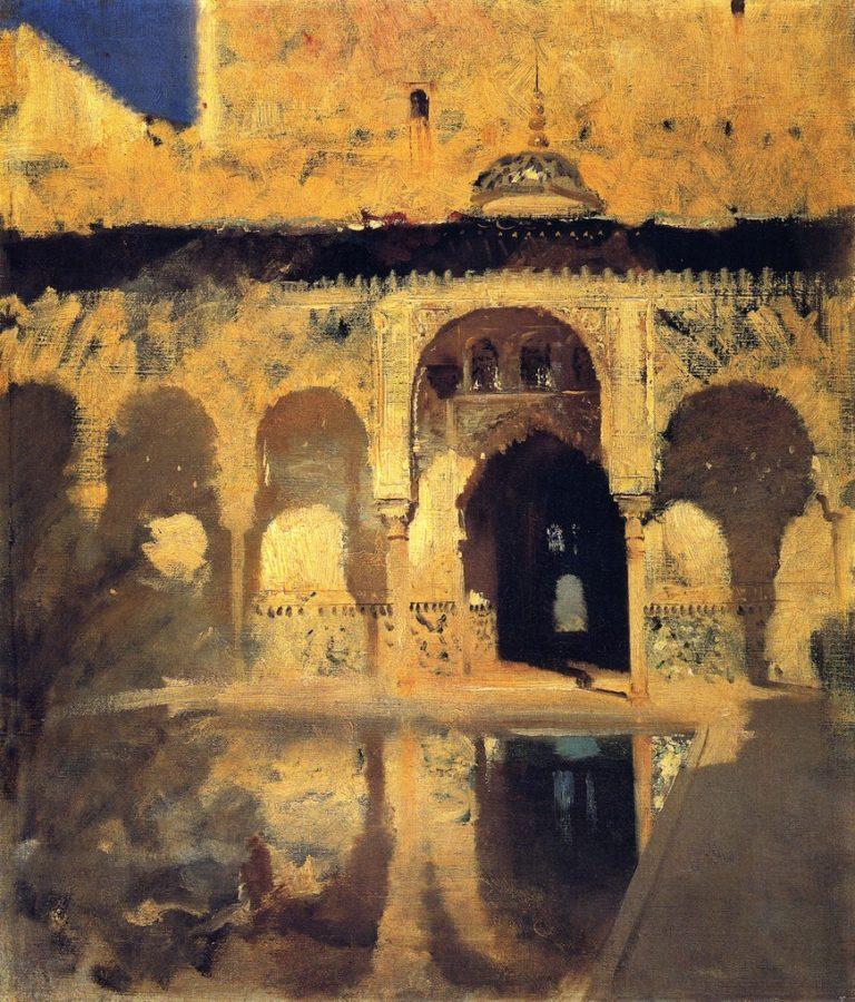 Alhambra Patio de los Arrayanes | John Singer Sargent | oil painting