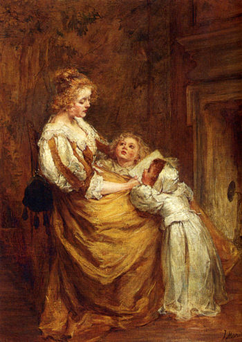 Motherly Love | Jacob Maris | oil painting